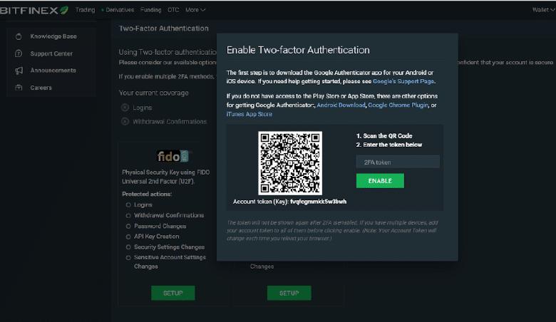 Bitfinex 雙重認證